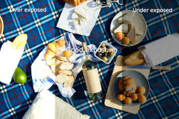 picnic set on the blanket