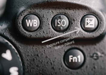exposure compensation button Nikon