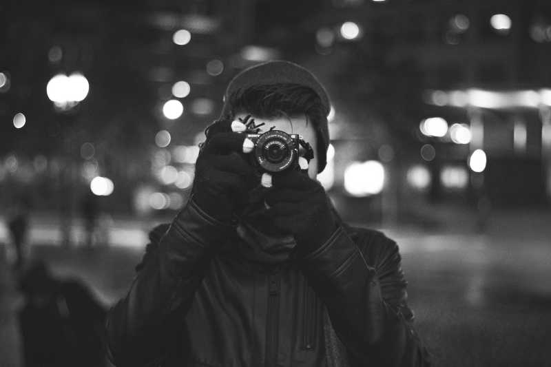 A man with camera